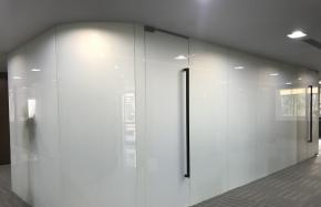 curved smart glass with commercial use